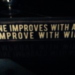 wine improves with age sign - Anuva wine tasting - Buenos Aires