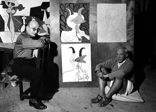 PABLO PICASSO AND JAUME SABARTÉS, 1946 MICHEL SIMA / RUE DES ARCHIVES