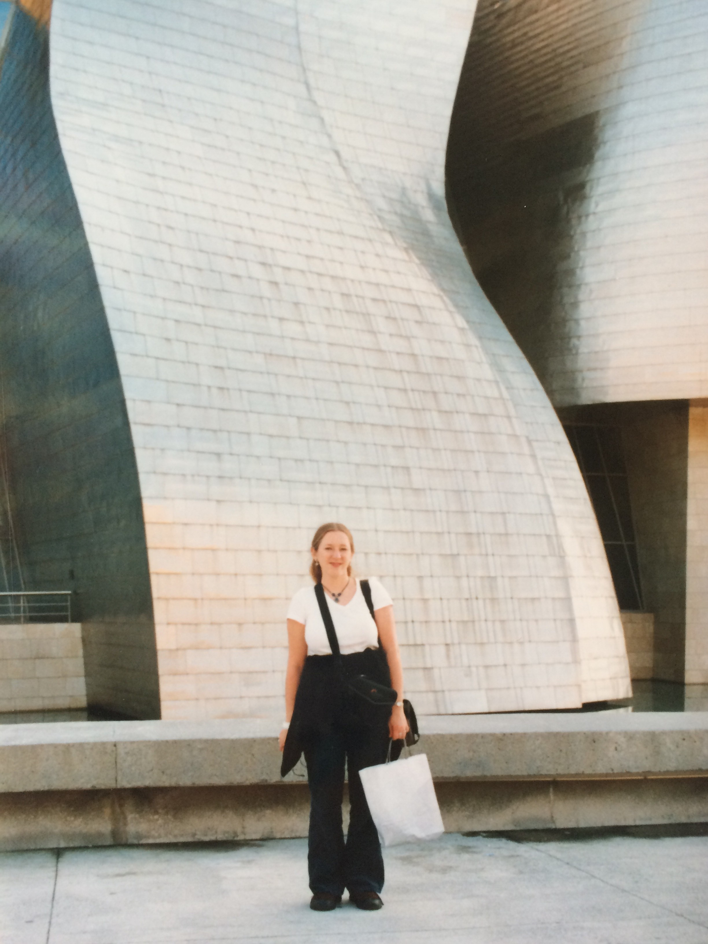 Lily at the Guggenheim Bilbao