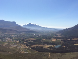 Franschhoek Valley South Africa wine country