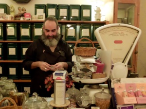 Ibiza tea salon owner