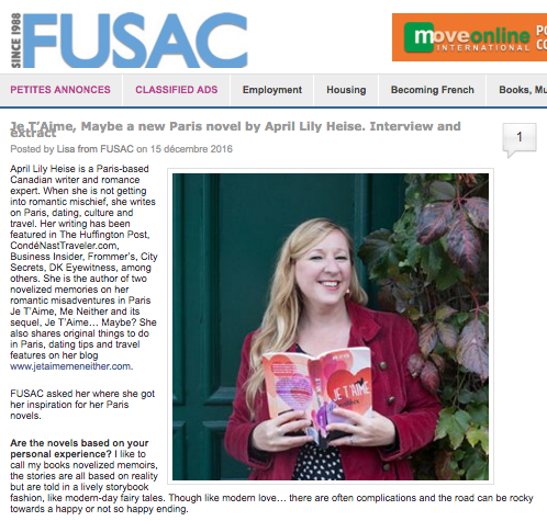 Lily Heise and Je T'Aime Maybe Featured Fusac Dec 2016