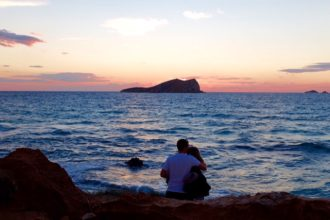 Romantic Ibiza sunset