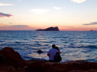Romantic Ibiza sunset