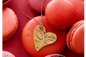 Heart Dipped Lace Necklace