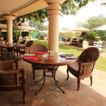 Ilala Lodge terrace