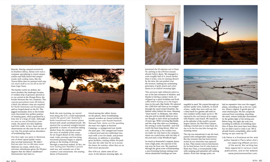 Rova Article Namibia Lily Heise